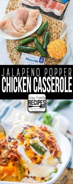 The BEST Jalapeno Popper Chicken Casserole Recipe