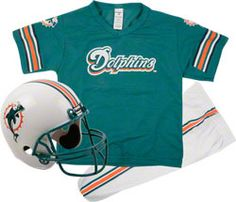 Miami Dolphins Kids/Youth Football Helmet Uniform Set $49.99 http://www.fansedge.com/Miami-Dolphins-KidsYouth-Football-Helmet-Uniform-Set-_-1305696000_PD.html?bizrate=64-21934=pinterest_pfid64-21934