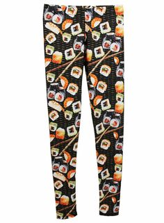 Food printed leggings: Sushi leggings at Cherie NY