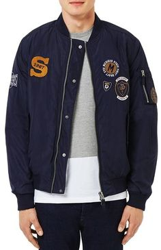 Topman Badge MA1 Bomber Jacket https://api.shopstyle.com/action/apiVisitRetailer?id=537523352&pid=uid8100-34415590-43