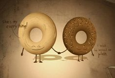 ...so so sweet...love this illustration by Mount Royal Bagel Bakery {who make a mean Montreal style bagel like these}...