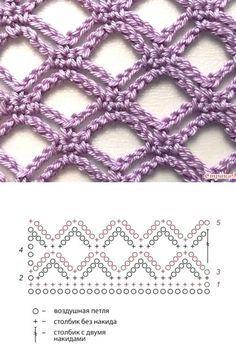 Crochet Art, Crochet Motif, Crochet Shawl, Crochet Crafts, Crochet Flowers, Crochet Projects, Free Crochet, Crochet Stitches Chart, Crochet Diagram
