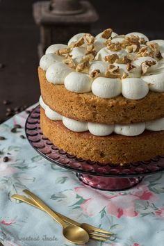 The Sweetest Taste: Tarta de café y nueces