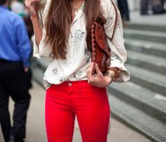 Love the jeans, bag and jewlery!