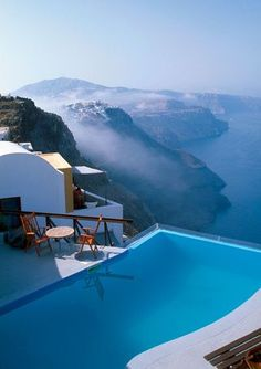 Magnificent view at Santorini #island, #Greece #landscape #view #sea #aegean #cyclades #blue #travel #summer #vacation #pool