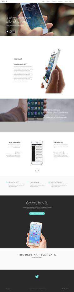 App Landing Multipurpose Page by dougborton on @creativemarket