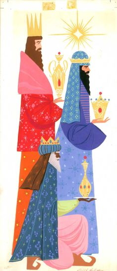 xmas card kings | One of the religious-themed cards, with the Three Wise Men. Hulett ...