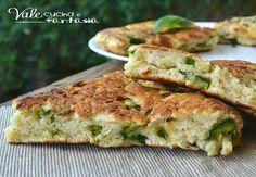 Focaccia con ricotta e zucchine ricetta veloce senza lievitazione