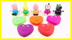 Learn Colors Play Doh Fun Team Peppa Pig Rainbow Heart Compilation Nurse...