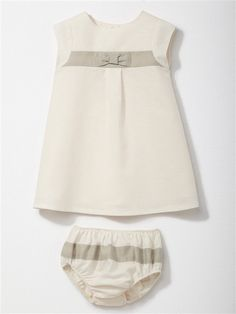 Dieses wunderschöne Zartrosa-Weiße Kleid lässt sich sowohl zur Taufe anziehen, als auch als wunderschönes Sommerkleid. (Cyrillus, 44,90€)  #sommerkleid #taufkleid #baby #white