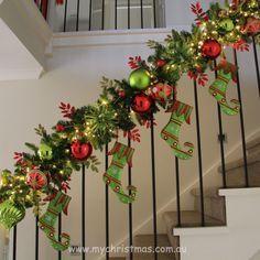 front door christmas garland ideas - Google Search