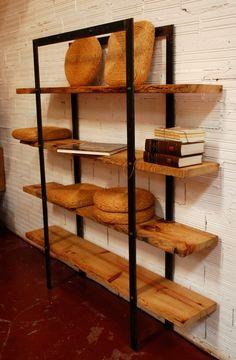 Risultati immagini per libreros de hierro Steel Bookshelf, Bookcase Shelves, Shelving, Industrial Design Furniture, Wood Interior Design, Furniture Design, Steel Furniture, Custom Furniture, Wrought Iron Decor