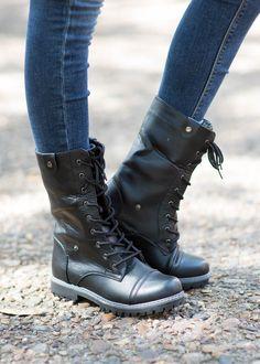 Aztec Print Foldover Combat Boots - Wide Width | Wet Seal  | Get