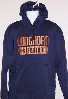 Men's Under Armour Texas Longhorns Sweatshirt Size Large Navy Blue & Gold #UnderArmour #TexasLonghorns