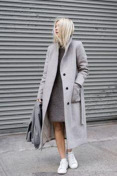 Shoes every girl should have / Buty, które każda kobieta powinna mieć #white #sneakers #outfit #dress #coat #grey #blogger #fashion #shoes #converse #trainers