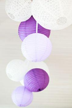 Purple wedding decoration.