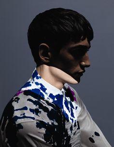 Before: Ink Splash shirt by Dries Van Noten