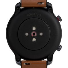 Timex Metropolitan R AMOLED Smartwatch with GPS & Heart Rate 42mm - Black with Brown Leather & Silicone Strap - Overstock - 31431677 Smartwatch Waterproof, Wearable Technology, Iphone Models, Heart Rate, Aluminium Alloy, Fitness Goals, Smart Watch, Cool Things To Buy, Brown Leather