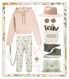"""""""LAZY DAYS"""" by munascoolture ❤ liked on Polyvore featuring Sage & Co., MANGO, Keds, Valentino, Off-White, House of Holland, Witchery and Miriam Haskell"""