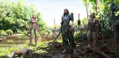 ArtStation - Elven shock troopers by Un Lee. Reminds me of moving through the thick forest when I was in the army. Wasn't a pleasant experience, but drawing it was! Hope u guys like it too!