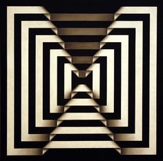 Black and White geometric design by Omar Rayo Illusion Kunst, Illusion Art, Art Optical, Optical Illusions, Pop Art, Colombian Art, Monochrom, Geometric Art, Sacred Geometry