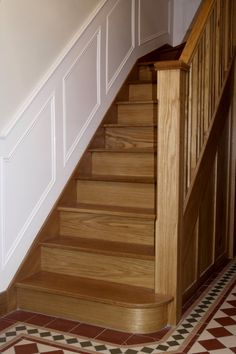 Gentil Oak Painted Stairs | Wall Panelling Wood, Wall Panels, Painted, Stair Panels