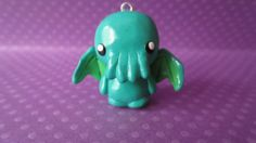 Chibi Cthulhu Polymer Clay Charme ideal von WonkyWeaselCreations, $7.00