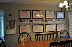 Dry erase boards for lesson plans- love how nice this looks, even in a main living space