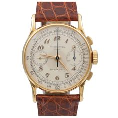 PATEK PHILIPPE 1940's Chronograph ref #130 sold by Tiffany & CO