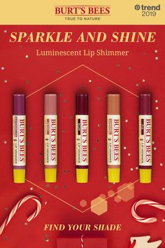 Burt's Bees Lip Shimmers deliver moisture and luminescent color. From reds and plums to pinks and corals, they're the holiday party companion. Tap the pin to see the trend! Makeup Art, Beauty Makeup, Plum Lips, Lip Balms, Natural Lips, Burts Bees, Lip Care, Face And Body, Makeup
