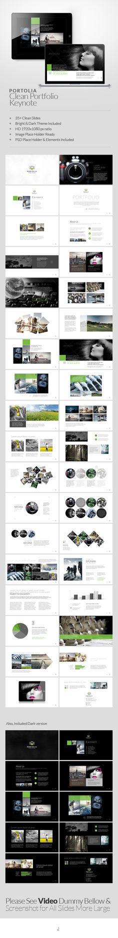 Portolia Multipurpose Clean Portfolio Keynote — Keynote KEY #professional #plan • Available here → https://graphicriver.net/item/portolia-multipurpose-clean-portfolio-keynote/6452302?ref=pxcr