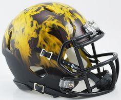 """Arizona State Sun Devils NCAA Mini Speed Football Helmet """"Flame"""""""