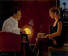 Jack Vettriano Queen of Diamonds painting for sale - Jack Vettriano Queen of Diamonds is handmade art reproduction; You can shop Jack Vettriano Queen of Diamonds painting on canvas or frame. Jack Vettriano, Paintings For Sale, Original Paintings, The Singing Butler, Milan Kundera, Fabian Perez, Impressionist Paintings, Pulp Art, Alex Colville