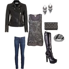 Sequins and leather. Pretty much my go-to going out look in winter