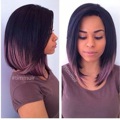 Love this #bobcut ✂️ done by #UtahStylist @timmuir801! Just a touch of color makes all the difference! Visit VoiceOfHair.com for more #Hairspiration!