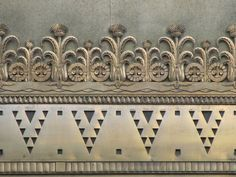Detail of Art Deco ornament on the exterior of the Exchange Building in Seattle, Washington.