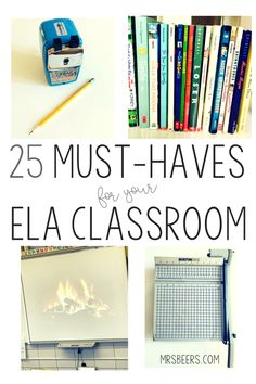 ELA classroom resources and must haves English Classroom Decor, Ela Classroom, Middle School Classroom, Classroom Resources, Classroom Ideas, Classroom Organization, Future Classroom, Classroom Management, Classroom Design