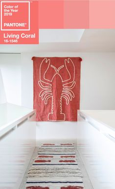 Lorena Canals Rugs, Machine Washable Rugs, Live Coral, Color Of The Year, Pantone Color, Lana, Wall Decor, Interiors, Decoration