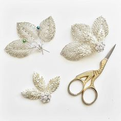 Some of my beaded Connie combs in progress for @cicilybridal brides x