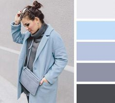 Grey and blues for Cool Summer.