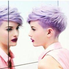 My new do minus the purple
