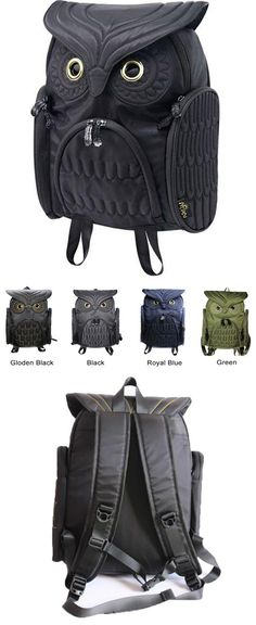 Which color do you like? Unique Cool Owl Shape Solid Computer Backpack School Bag Travel Bag #backpack #bag #school #travel #owl #animal #cute