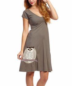 Synergy Organic Clothing Mushroom Owl Meadow Organic Dress by Synergy Organic Clothing #zulily #zulilyfinds