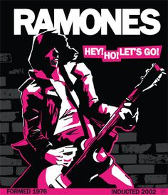 rock and roll typography posters | poster done for a school assignment for the Cleveland Rock and Roll ...
