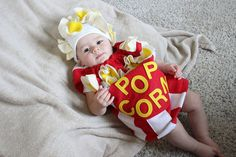 Baby Popcorn Costume Toddler Newborn Halloween by TheCostumeCafe