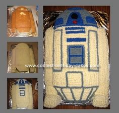 R2D2 cake: My son wanted a Star Wars party for his 5th birthday, and was requesting that I make an R2D2 cake. I Googled R2D2 cake, and the search led me to this site.