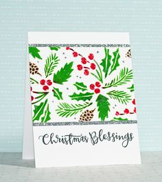Round Here: Christmas Blessings   Stenciled Embossing Paste