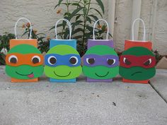 Bolsa a Favor fiesta de cumpleaños inspirada de las tortugas