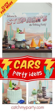 Don't miss this fantastic Disney Cars birthday party! Love the cake! See more party ideas and share yours at CatchMyParty.com #catchmyparty #partyideas #disneycars #lightningmcqueen #cars #radiatorsprings #boybirthdayparty Disney Cars Party, Disney Cars Birthday, Cars Birthday Parties, Boy Birthday, Boy Shower, Shower Party, Birthday Traditions, Party Activities, Birthdays