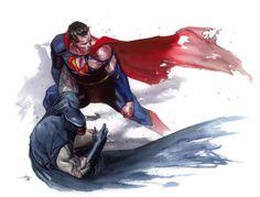 Superman and Batman by Gabriele Dell'Otto